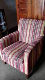 Stripe Suede Chair
