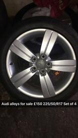 "Audi Alloys 17"""