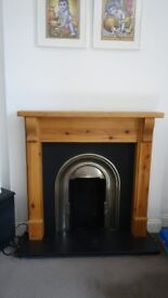 Fireplace with all accessories for gas fitting