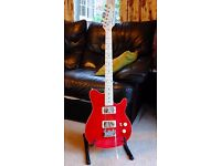 Santa Monica Electric Guitar in Awesome Trans Red