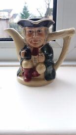 Tony wood toby jug
