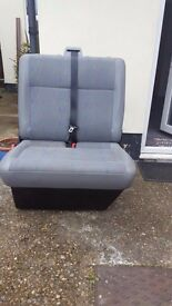 Double mini bus seat with seat belt. Freestanding. Will fit most vans