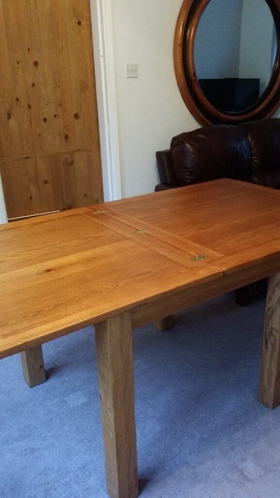 Solid Oak Square Dining Table.