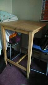 Ikea wooden bar table