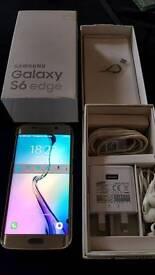 Samsung S6 Edge Smart Phone 64gb (Gold Platinum)