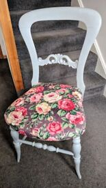 Upcycled vintage dining chair