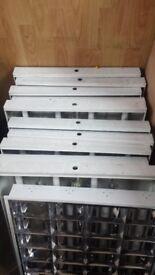 600 x 600 Suspended Ceiling Recessed Modular Flourescent Light fiitings