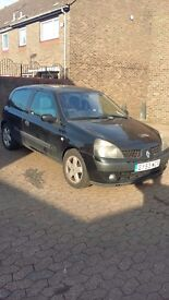 Renault Clio Billabong 53 plate, low mileage. £600 ono