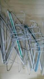 Coat hangers -approx 30