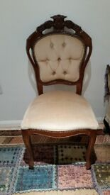 Luxury wooden and cream fabric vanity chair excellent condition- £25 ono