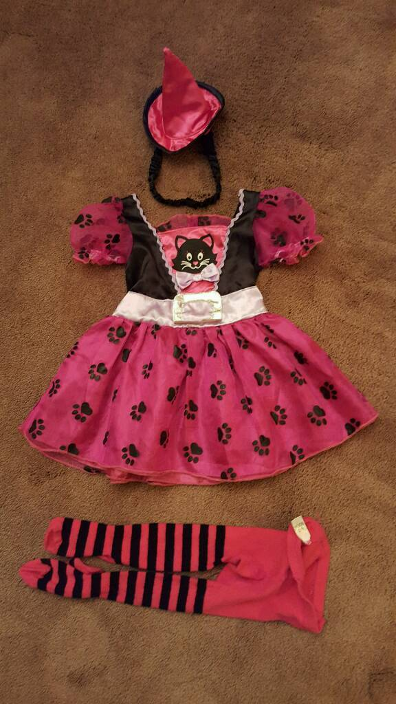 Girls cat witch costume age 9-12 months