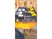Dewalt SDS 24v multi function cordless drills, batteries & charger in box, GWO, photos & details
