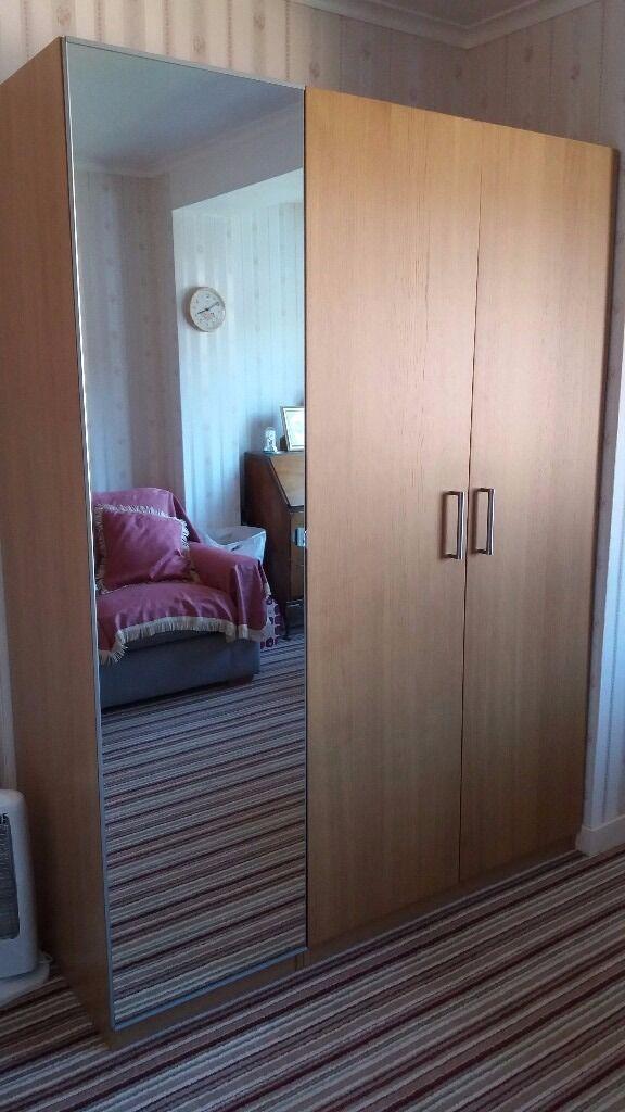 Ikea Pax Wardrobe With Mirror Door Nexus Vikedal In