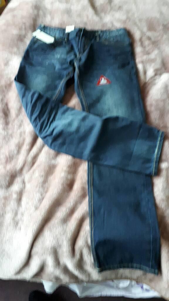 Mens crosshatch jeans 32 34