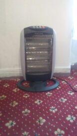Rotating hologen heater