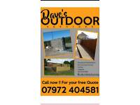 Dave's Outdoor Service's fencing decking patios walls garages sheds