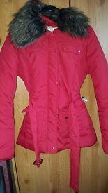 Womens/girls red coat