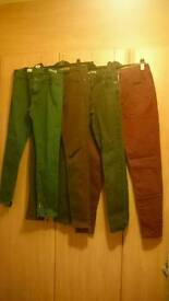 4 pairs of Size 10 jeans.