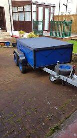 Builders trailer twin axle