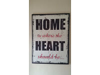 Home is where the heart should be... canvas