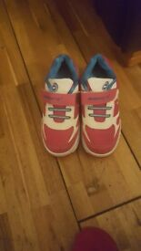 Girls wheelys size 1 new condition