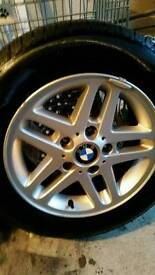 4 x BMW E46 3 series Wheels and brand new tyres, 15""