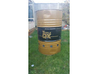 45 Gallon oil drum Fire Bin ideal for garden waste FOR SALE