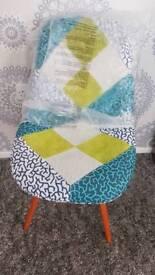 Fabric modern chair