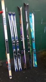 Snow Skis various makes and styles all in reasonable condition