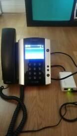 Polycom VVX 500 Voip phone with POE supply