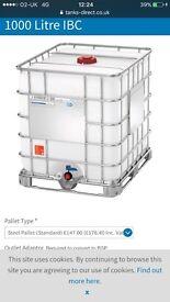 1000 litre ibc water storage tank BTAND NEW