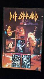 DEF LEPPARD 7 DAY WEEKEND TOUR POSTCARD