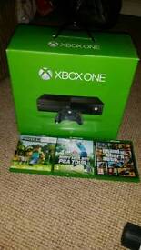 XBOX ONE (500GB) BOXED AS NEW WITH 3 GAMES FOR SALE