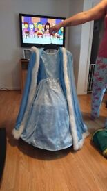 Girls size 7-8 ice queen dress up