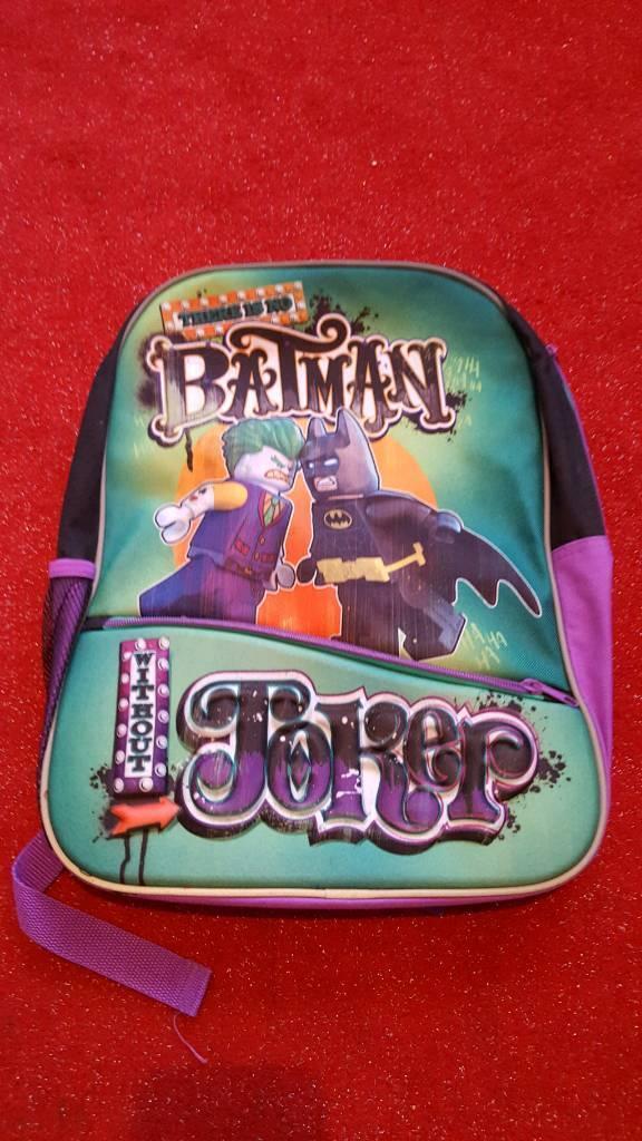 Lego batman movie featuring the joker ruck sack bag BNWT