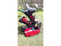 Phil & Ted Dot Double Pushchair including coccoon & double rain cover.