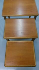 Montique nest of 3 tables by McNally Finlay. £25.00 ono