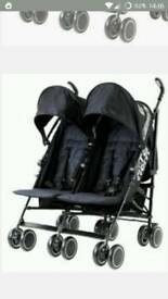 Zeta Citi double baby stroller - free, needs repair