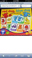 Red Dog, Blue Dog Board Game Orchard Toys