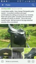 Bates 17.5 adjustable saddle