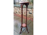 Tall wooden lamp or pot stand, lovely item