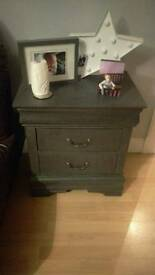 Graphite grey unit with 2 drawers