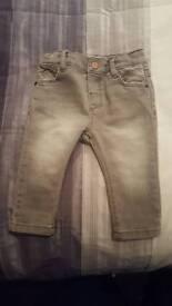 Zara boys jeans 3 to 6.months