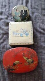 3 x vintage tins
