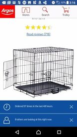 Dog crate from Argos, medium, barely used