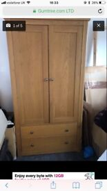 Mamas & Papas cot bed, wardrobe & changing unit with drawers