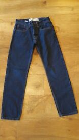 MEN'S BURTONS BLUE DENIM TAPERED JEANS WAIST 28/LENGTH 30 - CASH ON COLLECTION