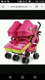 Mea lux twin double pram stroller brand new