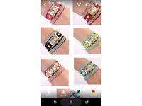 Ladies luxury rhinestone velvet bracelet watches
