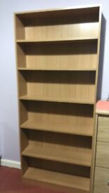 bookshelf - like new (Oak Effect - Size H180, W78, D20cm).